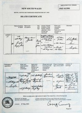 Death Certificate Mary Fuller