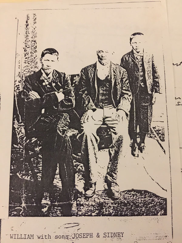 William Tootong with Sons William and Sidney