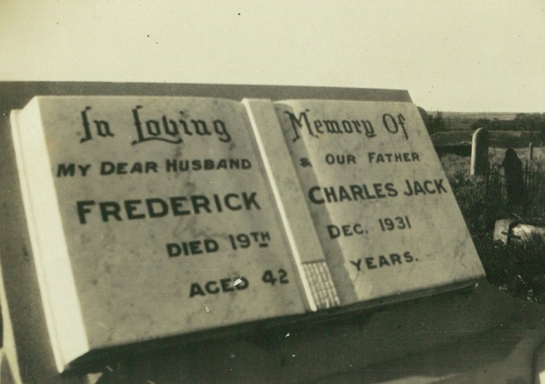 Headstone - Frederick Charles Jack