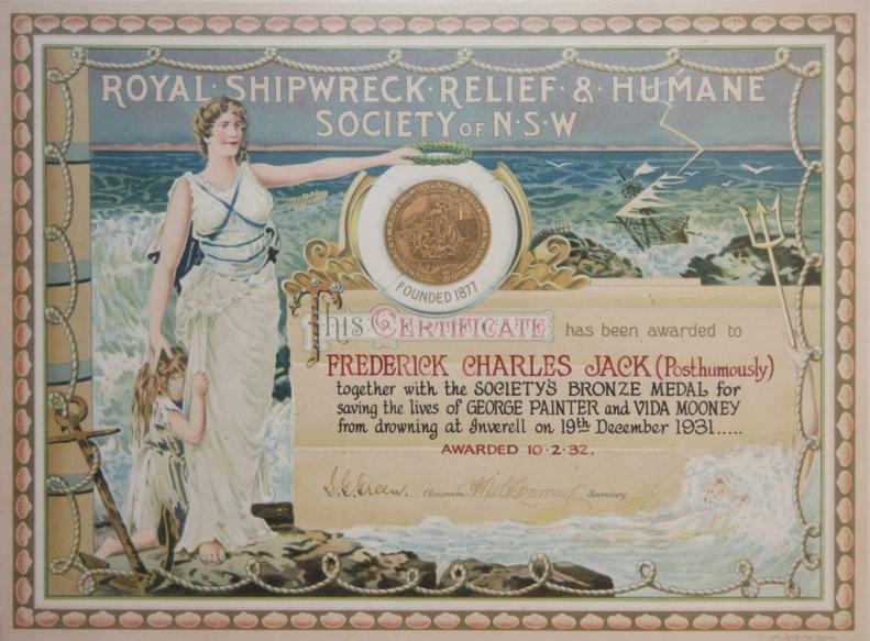 Frederick Charles Jack Bravery Award