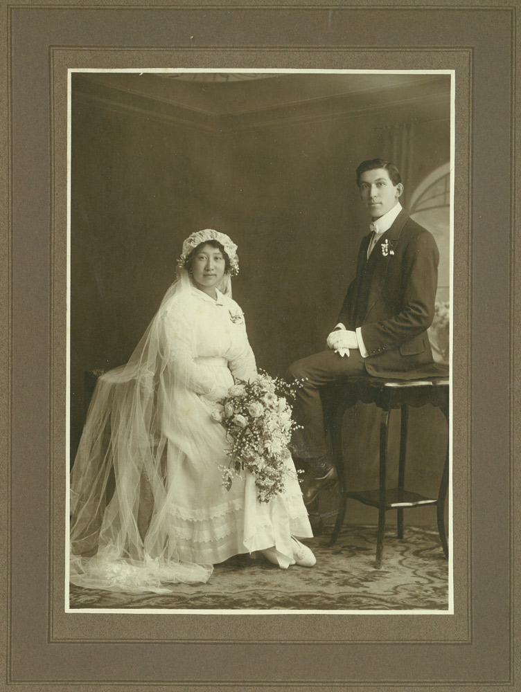 Wedding photo of Esther Grace Kee Chong and Frederick Charles Jack