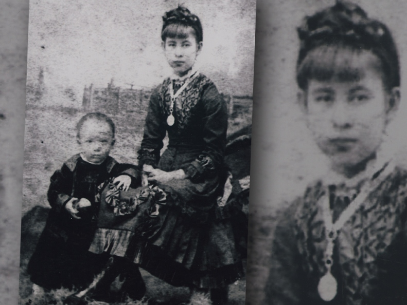 Agnes Lee (nee Youpaung) with baby George