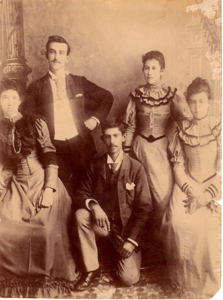 Emily, George, Edward, Alice and Agnes Yaupaung 1892